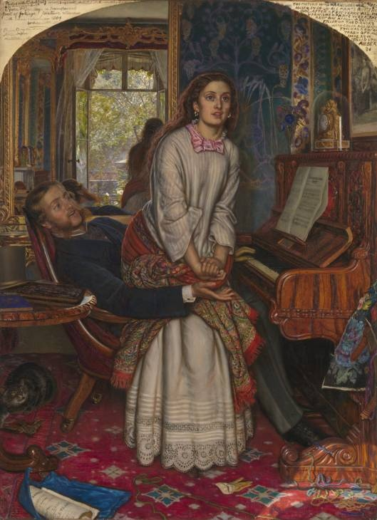 The Awakening Conscience 1853 by William Holman Hunt. What made the Pre-Raphs the first truly modern British art movement? See Alison Smith's most recent post on our blog to find out. Holman Hunt was an early member of The Artists Rifles.