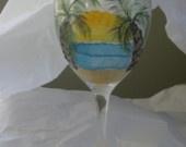 beach tropical wine glass | Tropical Wine Glasses