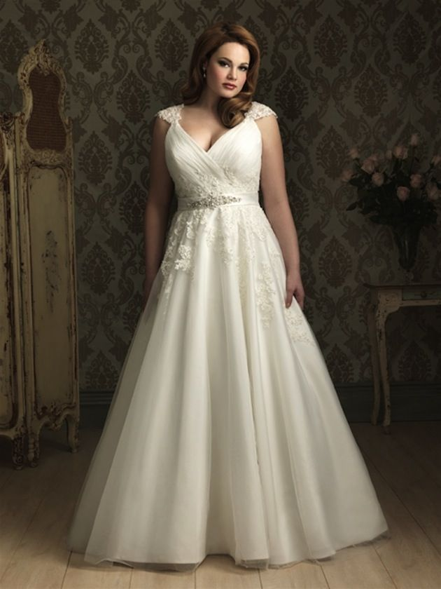 Top 10 Plus Size Wedding Dress Designers By Pretty Pear Bride #plussize #bride | Gown by Allure