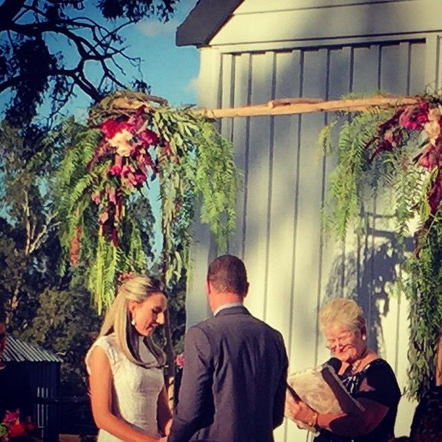 Sarah + Scott's wedding, Dundullimal Dubbo, April 2015, mink + me Handmade floral arch
