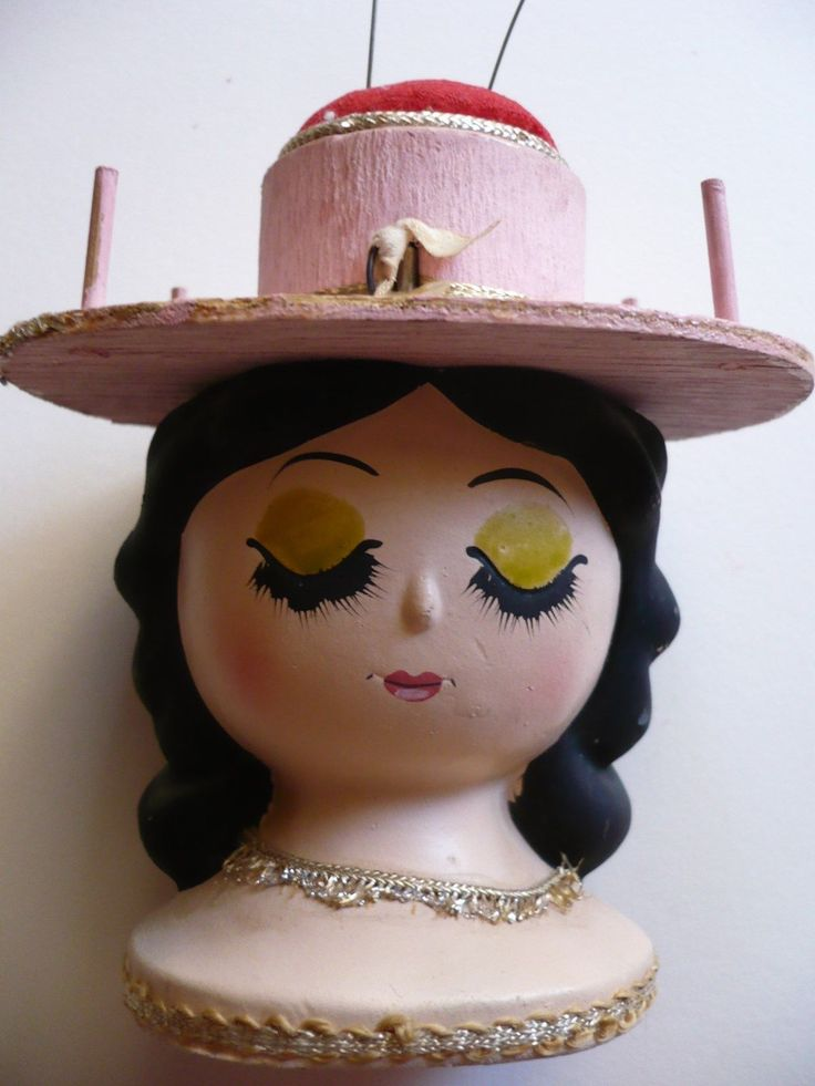 VINTAGE DOLL PRETTY GIRL JAPAN JAPANESE PIN CUSHION, SPOOL HOLDER, LEGO LABEL | Collectibles, Sewing (1930-Now), Pin Cushions | eBay!