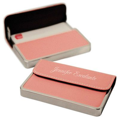 22 best business card ideas cases images on pinterest business personalized business card case pink leather personalized gift personalization business card unique gifts and keepsakes colourmoves