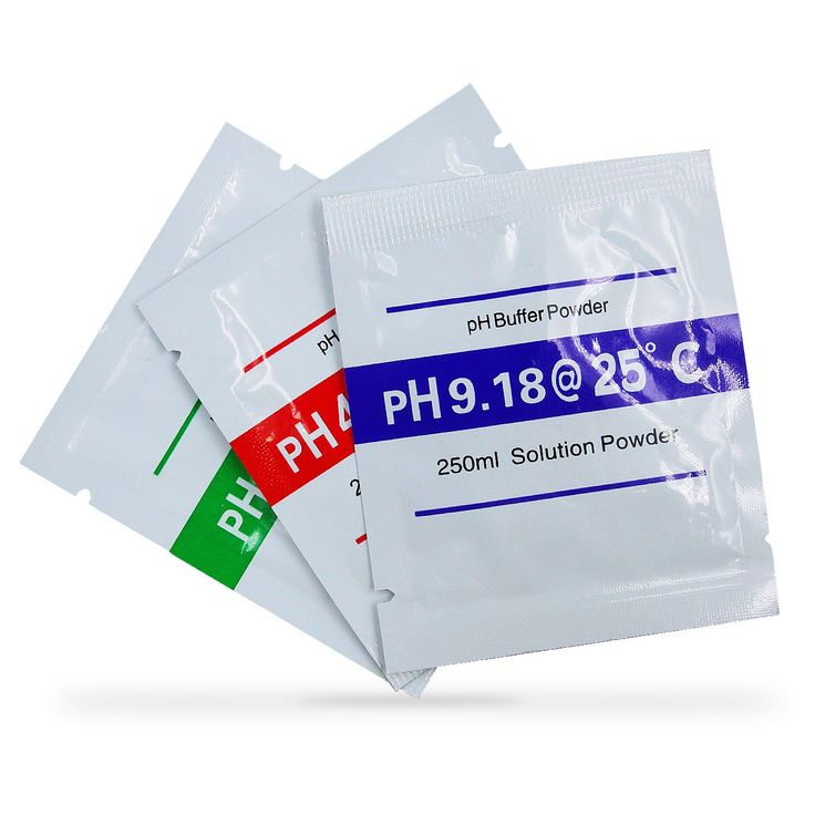 3-pack pH Meter Buffer Solution Powder Set For Portable and Easy PH Calibration, Packet of 4.00, 6.86 and 9.18 PH Buffer Powder