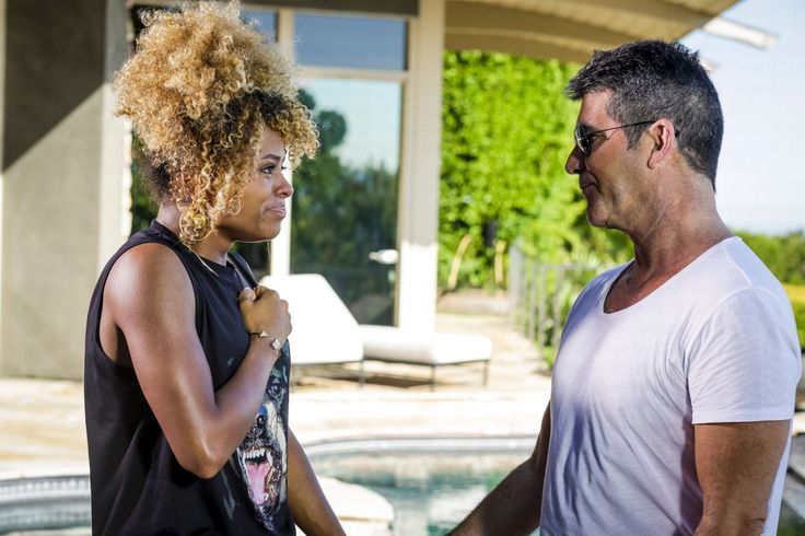 Fleur East and Simon Cowell