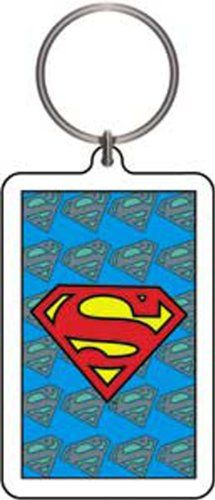 Licenses Products DC Comics Originals Superman with Background Logo Lucite Keychain -- Want additional info? Click on the image.