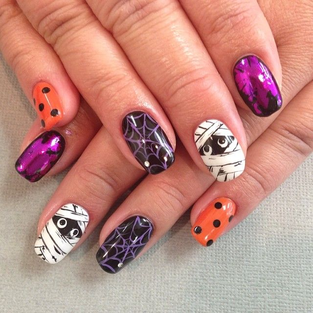 halloween by kawaii_nails_tustin_ca #nail #nails #nailart