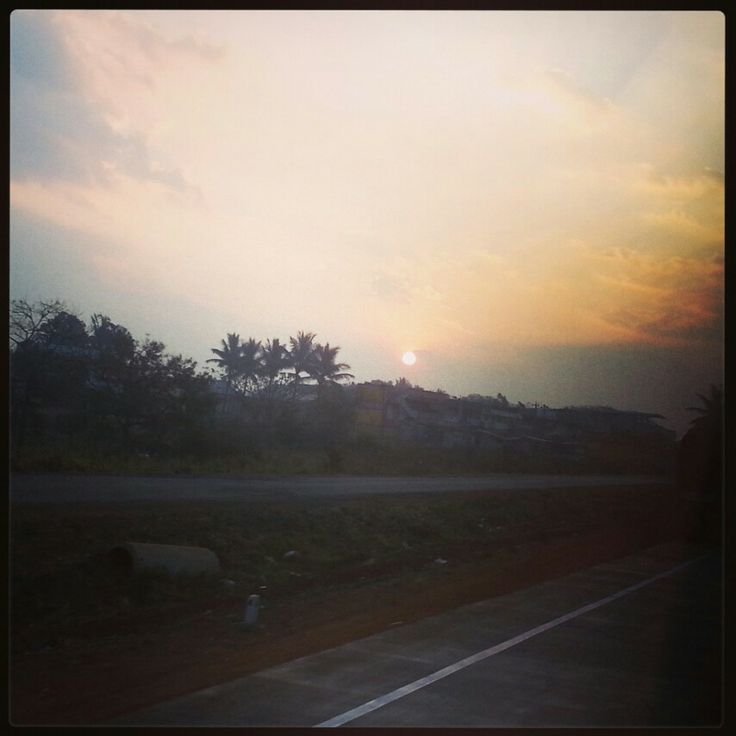 Awesome sunrise shot at Belgaum on National Highway 4 on Thursday,  Feb 13, 2014.