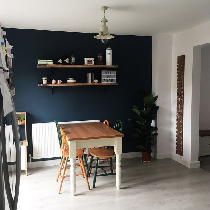 Wiltshire Painted Dining Table From The Cotswold Company. Cream Painted  Dining Table. Dark Blue
