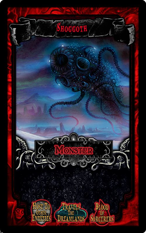 """Shoggoth - from the party game """"Arkham Nights"""" by Dann Kriss Games, with art by Ian Daniels © 2015"""