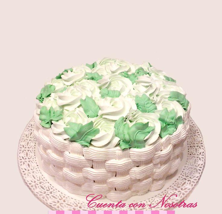 Torta Canastillo de Flores Torta Flores
