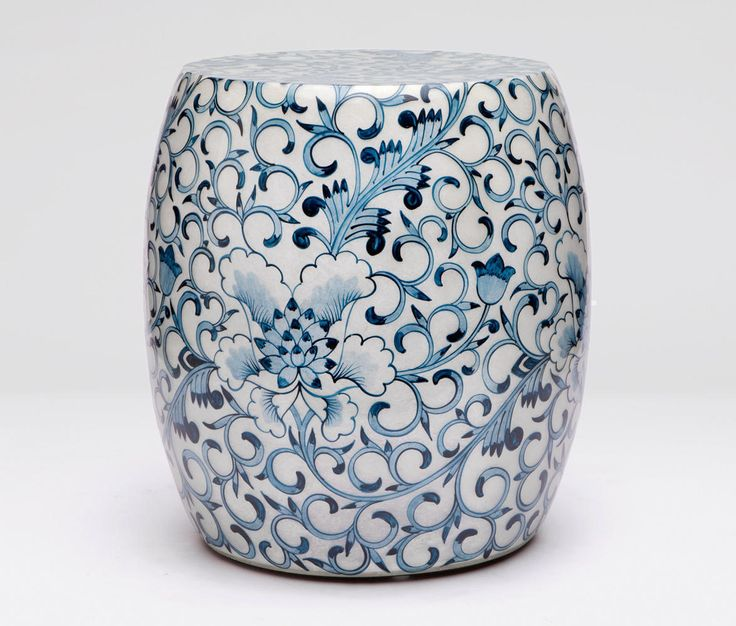 Madegoods blue and white ceramic garden stool  sc 1 st  Pinterest & 38 best garden stools images on Pinterest | Ceramic garden stools ... islam-shia.org