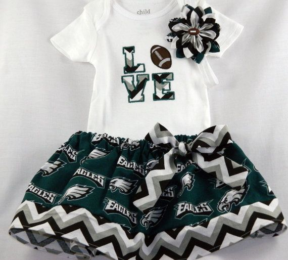 Philidelphia Eagles NFL Embroidered onesie by TheVogueBabyBoutique, $40.00