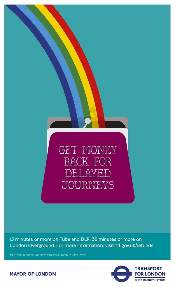 Striking, Vibrant Ads Announce New Fares & Ticketing For The London Underground - DesignTAXI.com