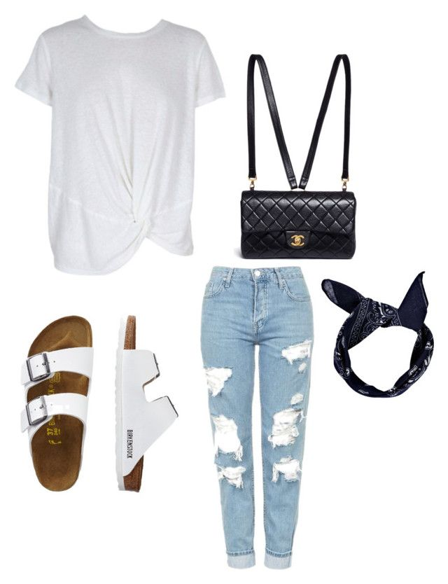 """""""walkin'"""" by secretxx on Polyvore featuring MINKPINK, Topshop, TravelSmith, Chanel and Boohoo"""