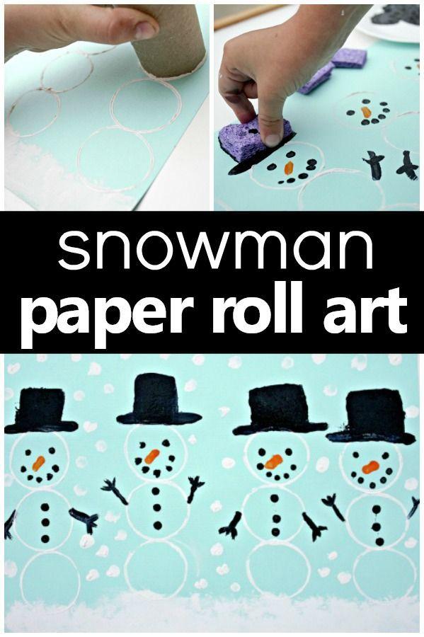Snowman Art Winter Craft for Preschool and Kindergarten #winteractivities #preschool  #snowman