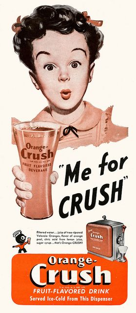It's Orange Crush for her! #vintage #1940s #food #drinks #ads