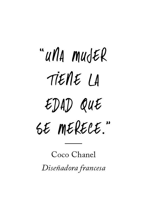 ʺUna mujer tiene la edad que se mereceʺ. Coco Chanel, diseñadora francesa. - El Libro Amarillo P/V 13 - El Palacio de Hierro