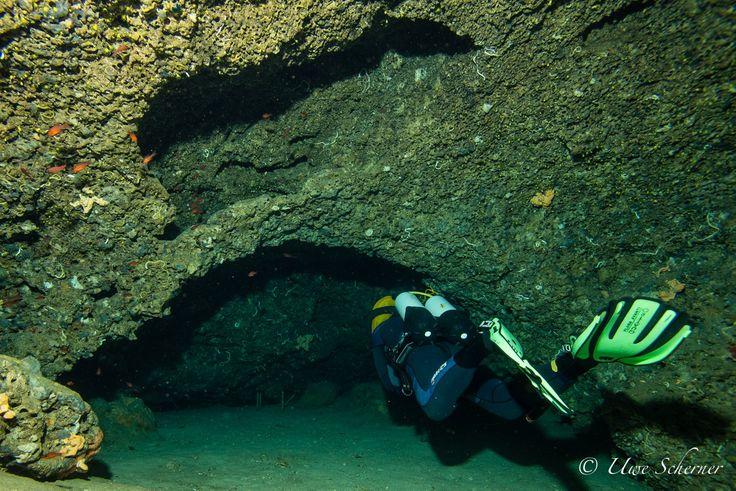 www.bioConsult-svi.de; Research Diver monitoring cave fauna; Ibiza, Islas Margalidas, Spain