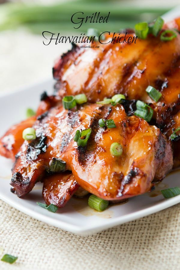 This grilled Hawaiian chicken is the best recipe ever! We cannot stop making it! ohsweetbasil.com