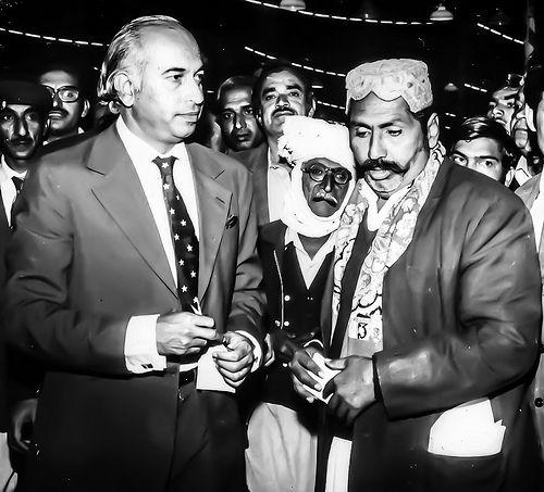 Zulfikar Ali Bhutto listens patiently to applicants