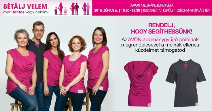 Rendelj, hogy segíthessünk! Az AVON adománygyűjtő pólóinak megrendelésével a mellrák ellenes küzdelmet támogatod! A nők, pótolhatatlan szerepet töltenek be a társadalomban. De gondoljunk csak bele, hány olyan fontos nő van a mi életünkben, aki nélkül nem tudnánk élni?