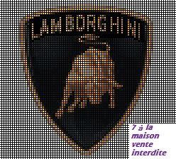 grille gratuite : Lamborghini - Le blog de 7 à la maison, point de croix…