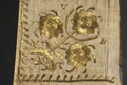 18THC OTTOMAN GOLD METALLIC EMBROIDERED TOWEL OR SASH FRAGMENTS | eBay
