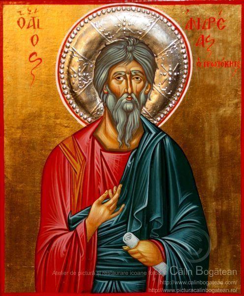 Sfântul Apostol Andrei :http://picturacalinbogatean.ro/produs/sfantul-apostol-andrei/