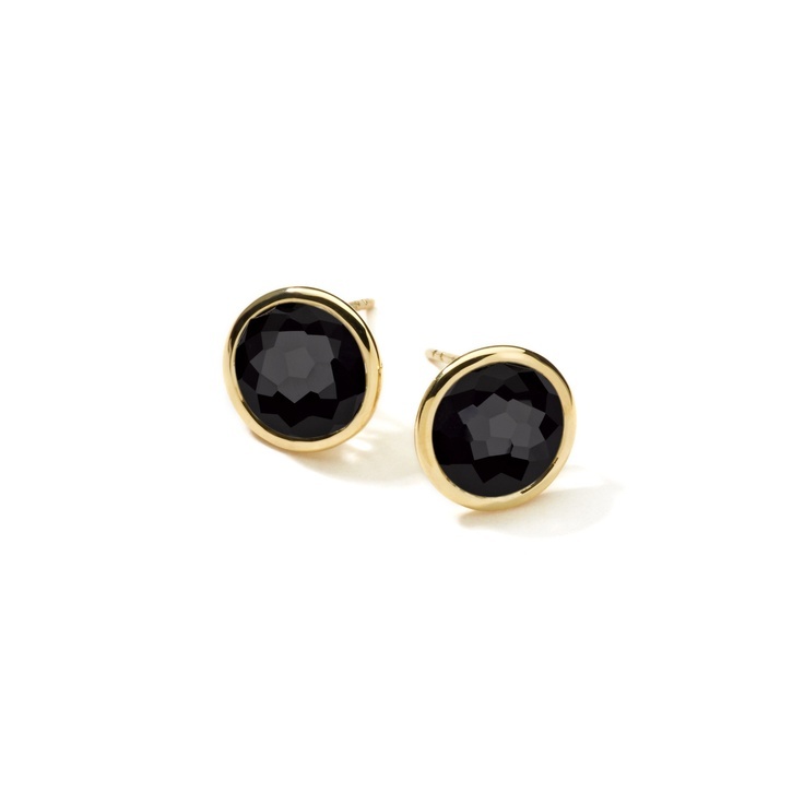 Ippolita Lollipop Stud Earrings In Gold Onyx A Radiant Hand Faceted Stone Takes The Stage This Set