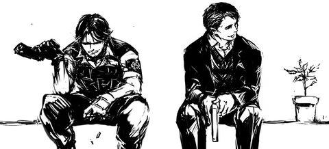 Kevin Ryman and George Hamilton  (Resident Evil Outbreak)