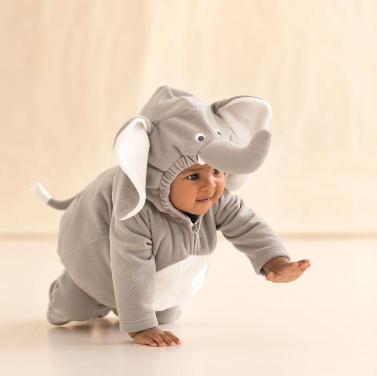 Too cute little elephant Halloween costume for baby #carters halloween costumes #DIY