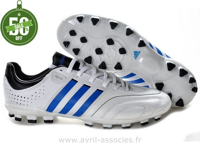 Boutique Chaussures de foot adidas adipure 11Nova TRX AG Blanc Bleu (Nouvelle Adidas Foot)