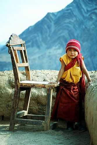 LOCATION: INDIA - JAMMU & KASHMIR / The Well Worn Chair. Ladakh