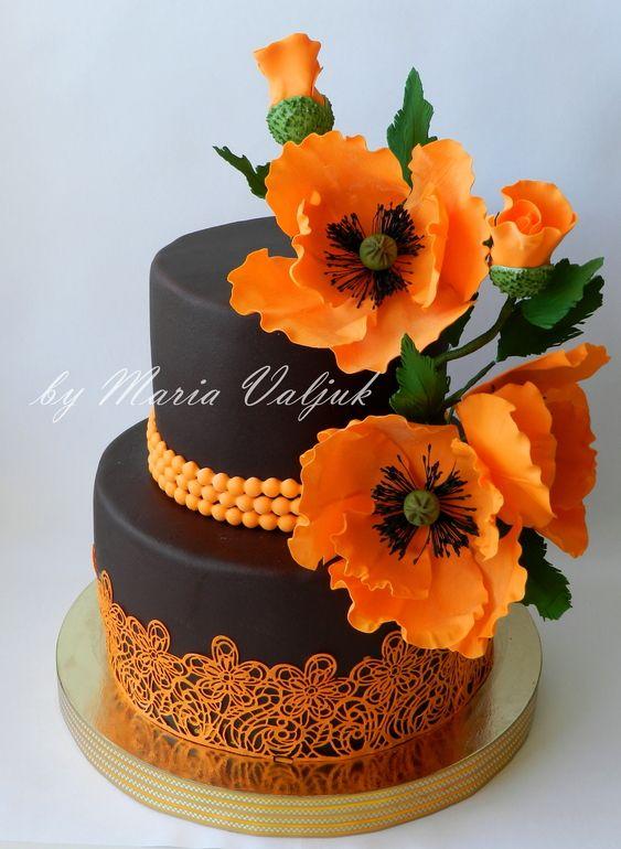 Indian Weddings Inspirations. Orange Wedding Cake. Repinned by #indianweddingsmag indianweddingsmag.com #weddingcake
