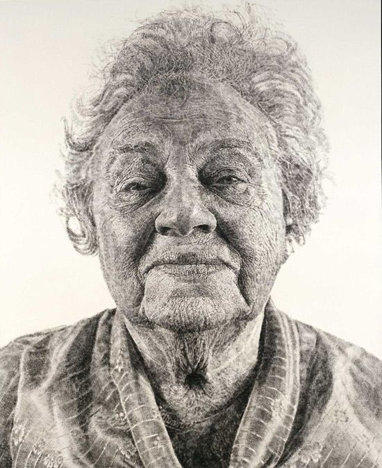 Amazing photorealistic paintings by Chuck Close