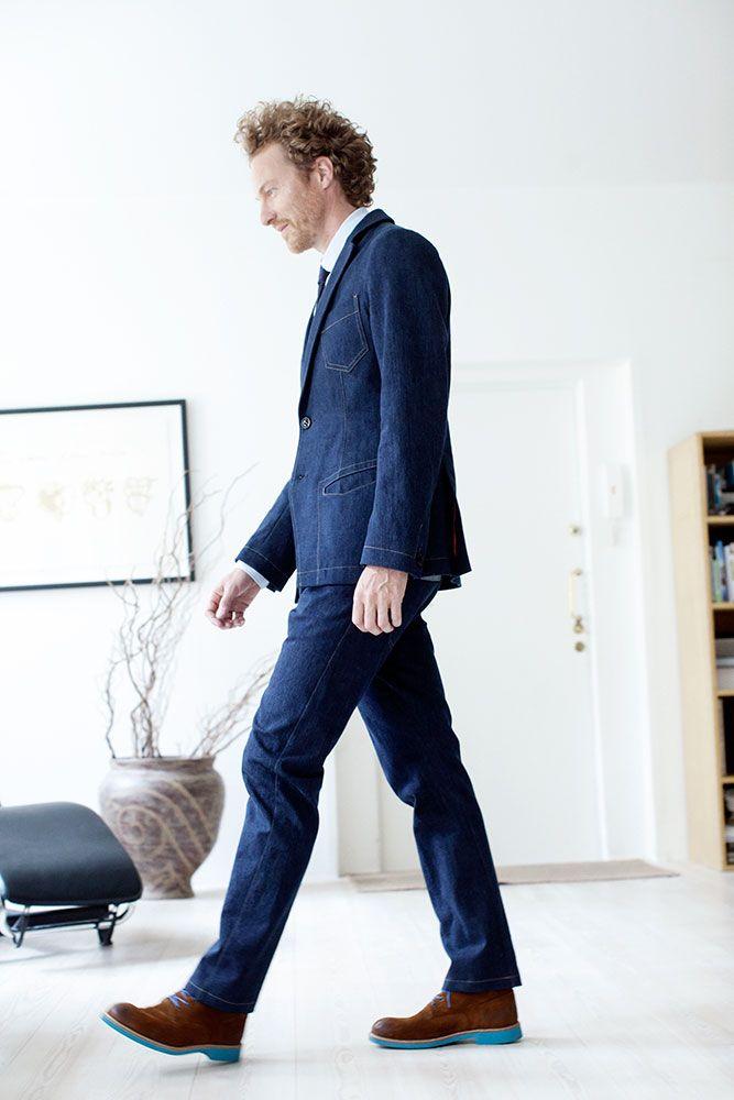 #FRENN Timeless - Joel #denim #blazer Risto #denim #trousers