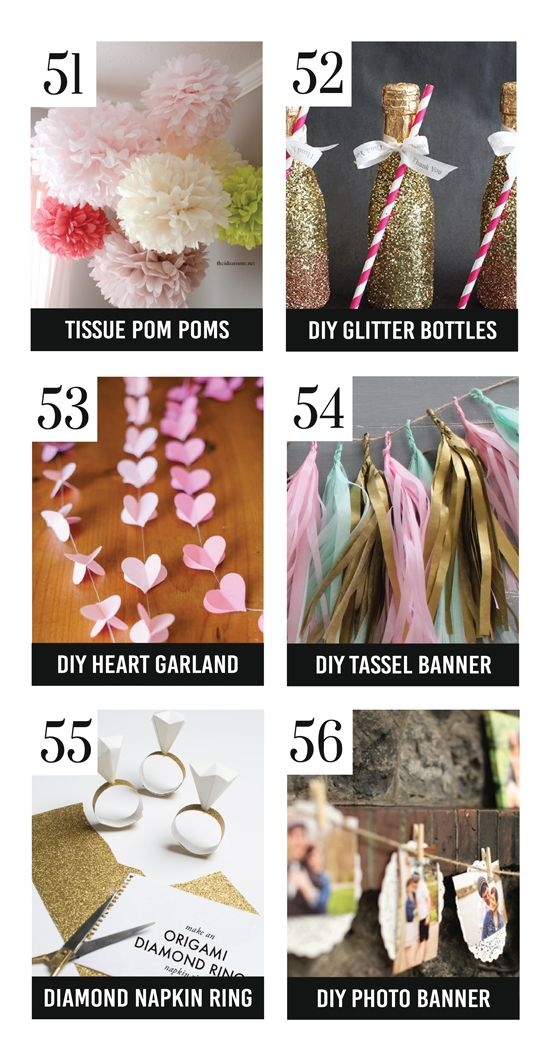 DIY TASSEL BANNER - shower 150 Bridal Shower Ideas