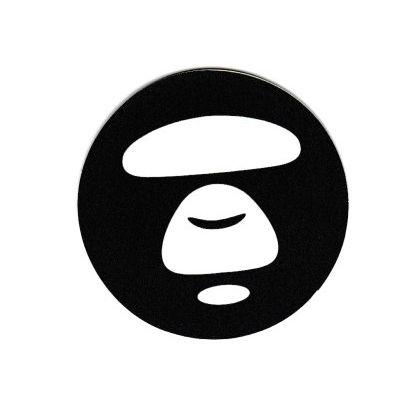 #1932 A BATHING APE Round Logo , 4.6 cm Small size Decal Sticker - DecalStar.com