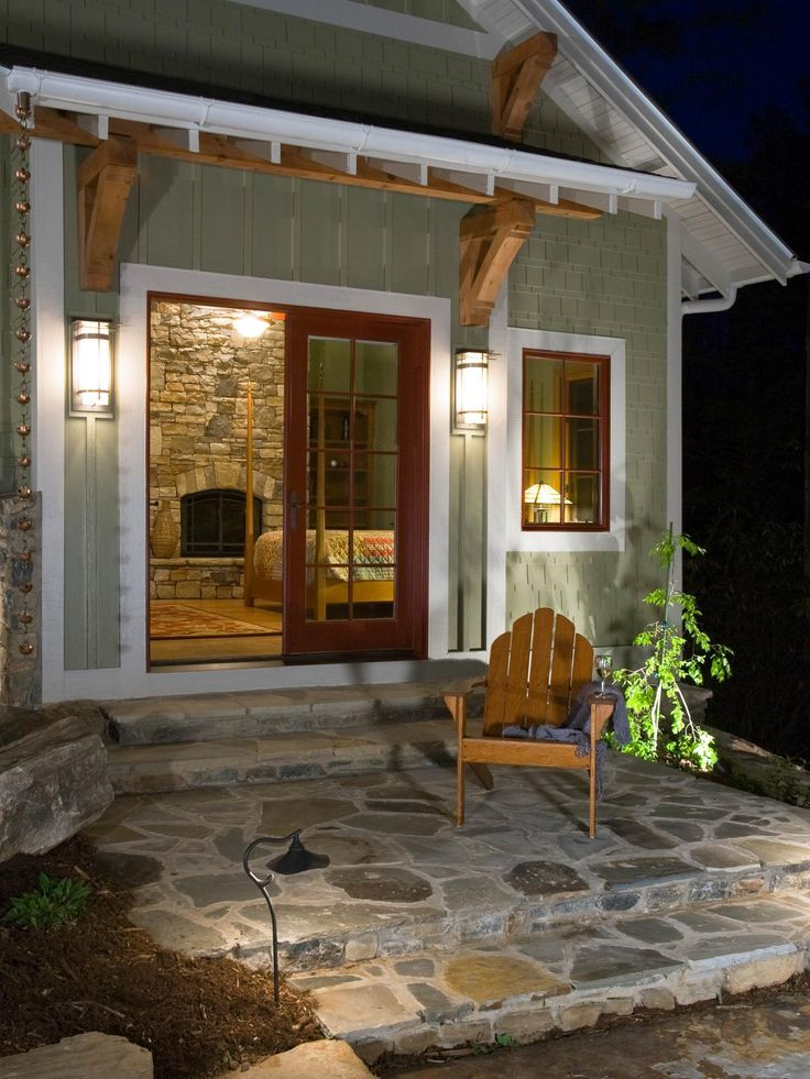 This Simple Patio Invites You To Sit And Relax. A Rustic Adirondack Chair  Complements The