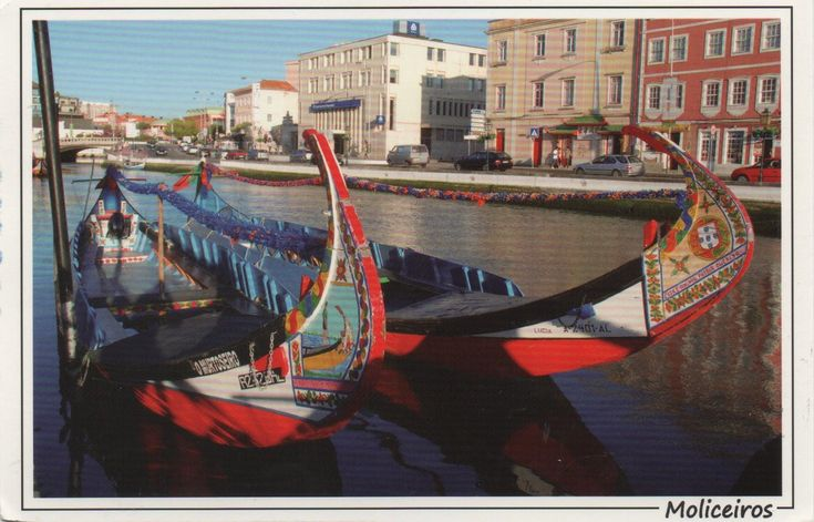 PT-569087 (2018°74) - Arrived: 2018.04.03   ---   Aveiro is a city in Portugal. Dubbed 'The Venice of Portugal', the town has both canals and gondola like boats. The boats are known as barcos moliceiros and are in fact the traditional flat bottomed boats used for collecting seaweed from the lagoon, they are also sail powered.