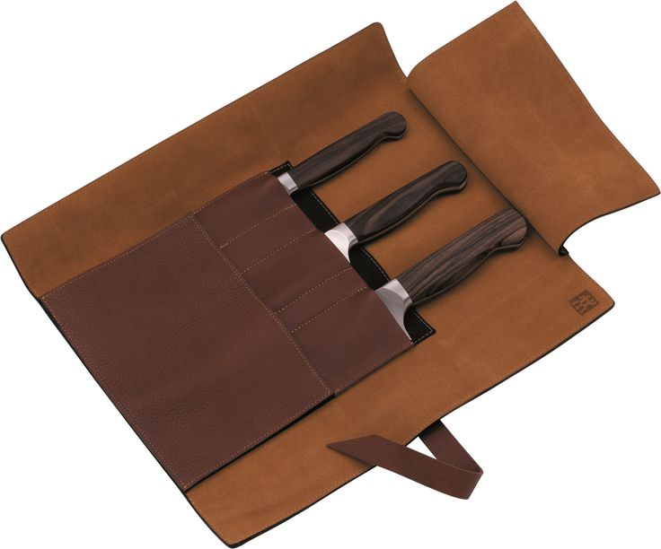 Twin 1731 4 Piece Leather Roll Knife Set
