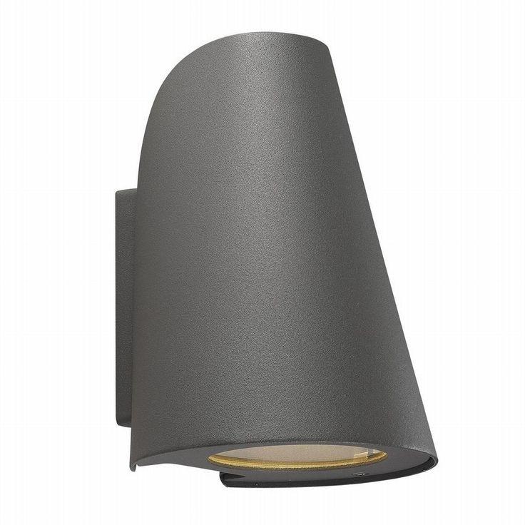Fasadbelysning i lackad aluminium, ger en spotlight effekt neråt.Ljuskälla ingår ej.