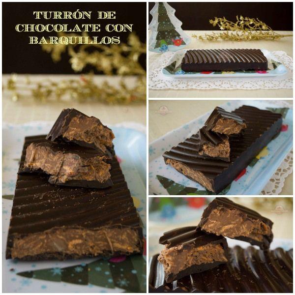 Turrón de Chocolate con Barquillos
