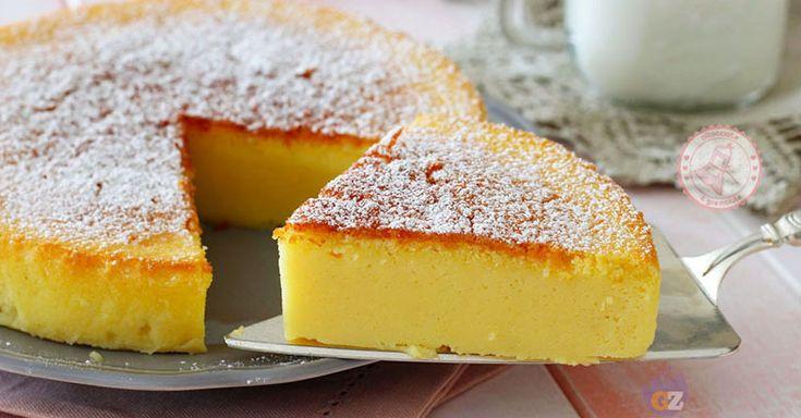 Torta al latte senza lievito una torta cremosissima, facile da preparare, profumatissima e con la consistenza simile ad un budino.