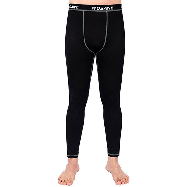Simple Breathable Fleeces Warmth Biker Pants For Outdoor Sports