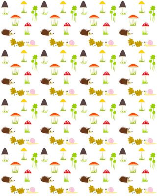 free digital and printable forest themed background pattern – mushrooms, hedgehogs, snail pattern – Herbstpapier – freebie | MeinLilaPark – digital freebies