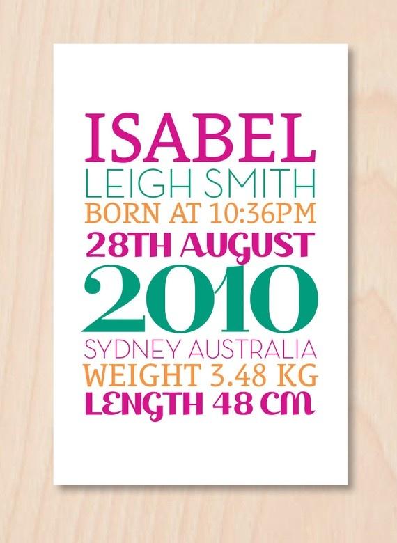 Baby Girl Birth Announcement $15