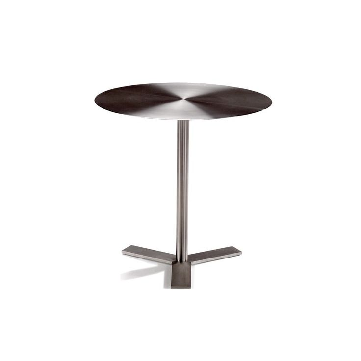Simplicity side table |  Designer: Haldane Martin |  The brushed stainless steel top can also be made in other materials such as glass, timber and stone.
