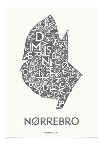 NØRREBRO - KOKSGRÅ - 40x55 CM