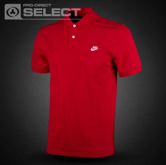 red nike shirt